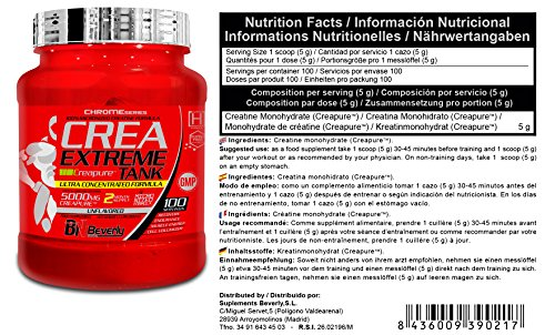 Beverly Nutrition Exclusive For ABSat40 Crea Extreme Tank - Pure Creatine Origin Formula - Improves performance and increases total muscle mass - 500 g
