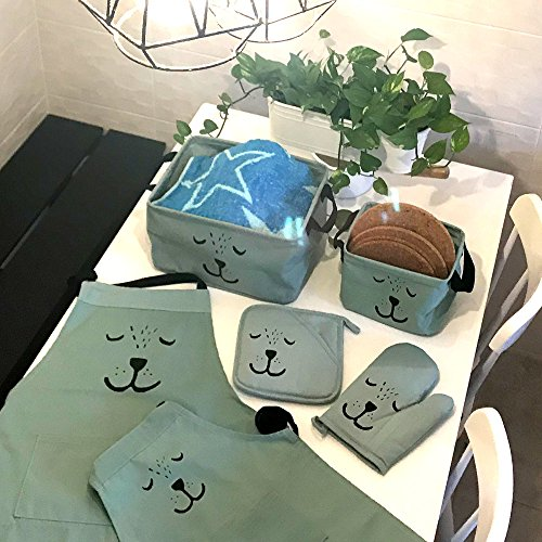 Cute Animal Collapsible Toy Storage Organizer Folding: Cre8tivePick Cute Bear Foldable Canvas Storage