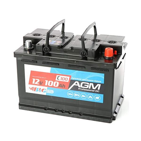512FRTyYHfL BIG AGM Batterie 100Ah C100 12V Solarbatterie Versorgungsbatterie Mover Bootsbatterie