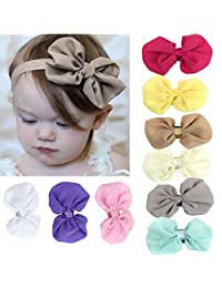 FEITONG 9PCS Lovely Babys Flower Elastic Hairband Headbands Photography