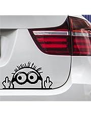 wDesigns Naklejka na samochód Minionki, palec środkowy, tuning, nalepka, naklejka, JDM OEM 15 x 9 cm