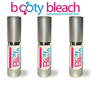 Booty Bleach 3 PACK - Lightening gel for intimate areas such as anus, vaginal skin, nipples, vagina, penis, and scrotum.