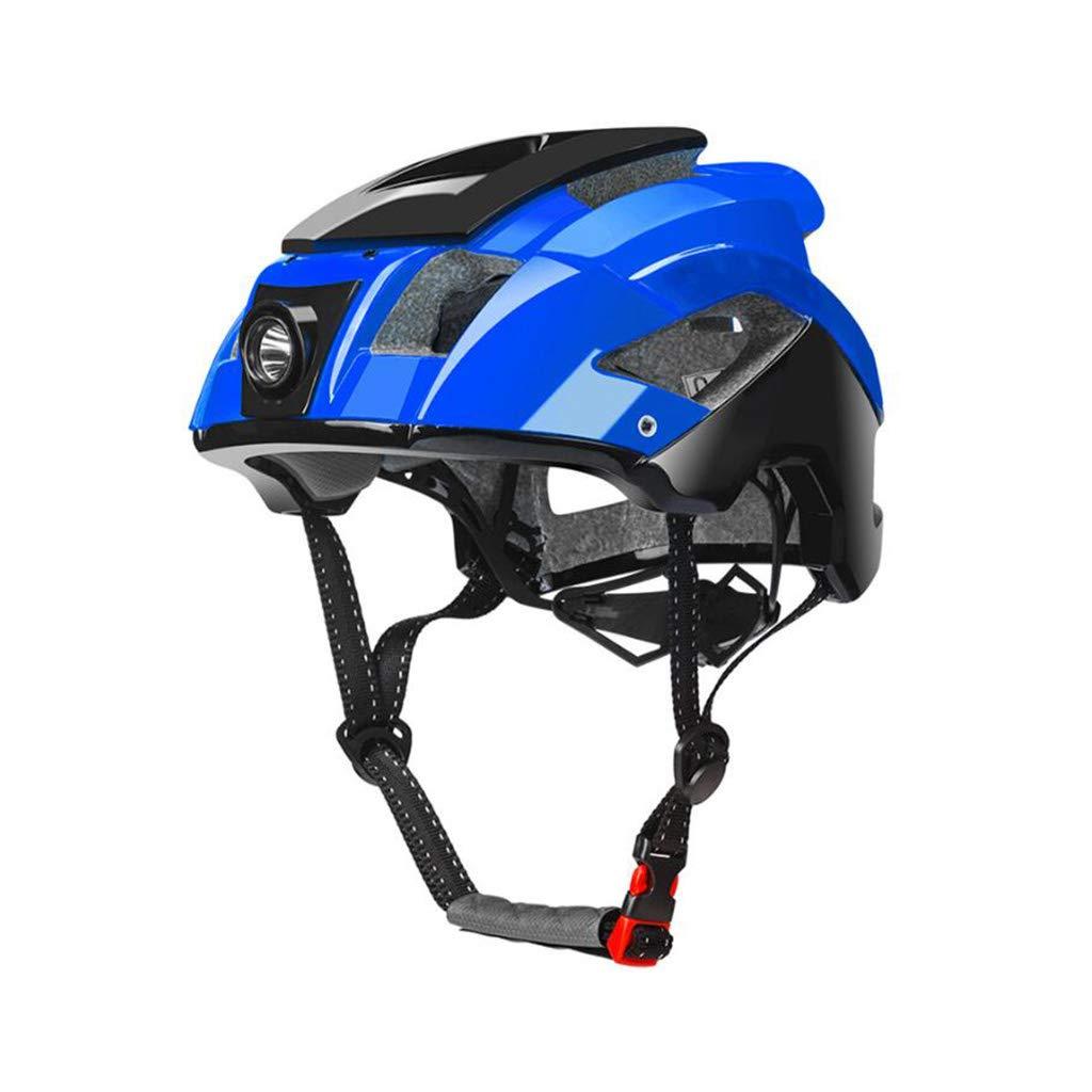 【翌日発送可能】 ヘルメット サイクルヘルメット ヘルメット -、ロードマウンテンバイクヘルメット調節可能軽量大人用ヘルメットバイク安全キャップ - ヘッドライト B07PWC8QZ4 B07PWC8QZ4 青, 激安タイヤとホイールのAUTOMAX:9598149f --- a0267596.xsph.ru