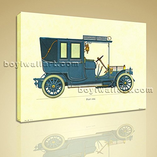 hd-print-canvas-wall-art-gallery-wrapped-fiat-1906-ready-to-hang-picture-extra-large-wall-art-galler