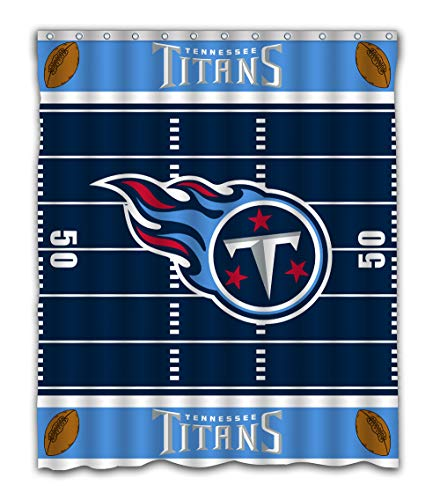 Sonaby Custom Tennessee Titans Football Field Design Waterproof Fabric Shower Curtain for Bathroom Decoration (60x72 Inches)