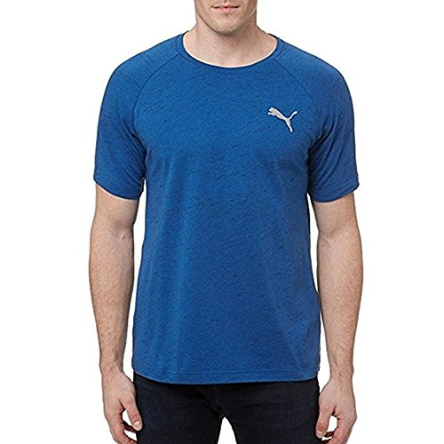 Puma Men's Evostripe Tee (XL, Blue)