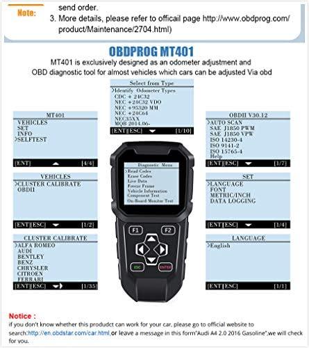 Leeofty Professional Automotive Scanner Odometer Adjustment Mileage Programmer Auto Mileage Correction On-Board Diagnostic Car Diagnostic Tool