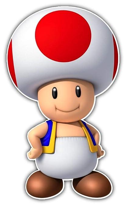 Amazon Com Cartoon Super Mario Mushroom Car Bumper Sticker