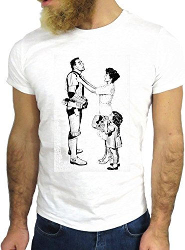 T-SHIRT JODE GGG24 PER187 - WARS FUN COOL VINTAGE ROCK FUNNY FASHION CARTOON NICE AMERICA BIANCA - WHITE M