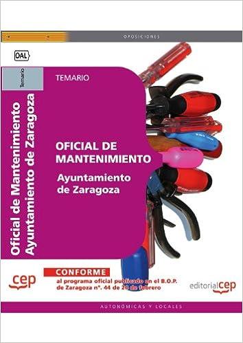 Descarga libros gratis Oficial de Mantenimiento Ayuntamiento de Zaragoza. Temario (Colección 684) PDF FB2 iBook