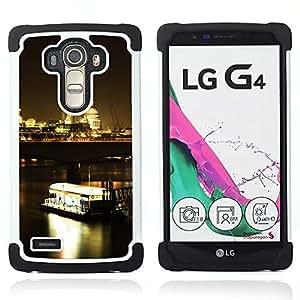 BullDog Case - FOR/LG G4 H815 H810 F500L / - / Night Ferry /- H??brido Heavy Duty caja del tel??fono protector din??mico - silicona suave
