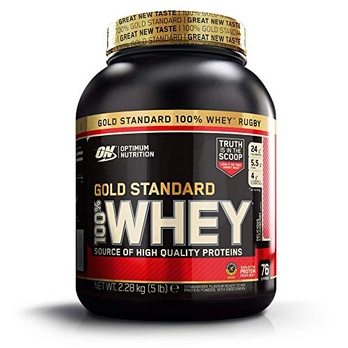 Optimum Nutrition Gold Standard Whey Muscle Building and Recovery Protein Powder with Glutamine and Amino Acids…