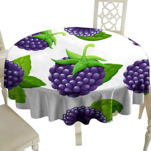 Waterproof tablecloth Seamless pattern of blackberry Vector illustration of forest berry with green leaves Vector illustration for decorative poster emblem natural product farmers market Website page