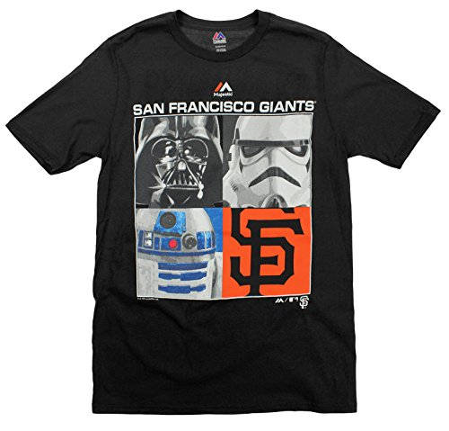 Majestic MLB Boys Youth Star Wars Main Character T-Shirt, San Francisco Giants, Small (8)