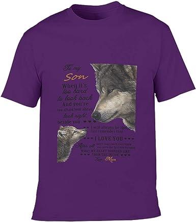 O5KFD&8 Camiseta de algodón de corte estrecho con cuello ...
