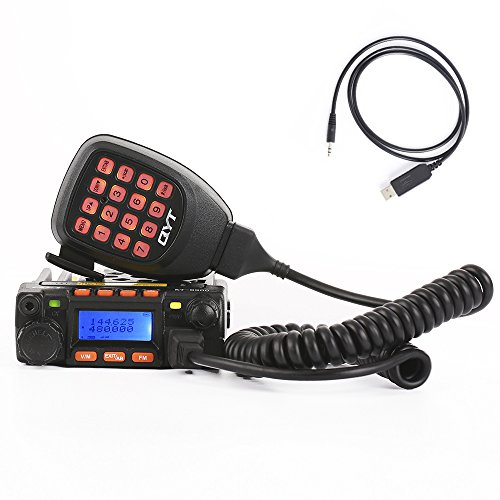 QYT KT-8900 Mini Dual Band Mobile Transceiver 2M 136-174MHz/70cm 400-480MHz 25W Amateur Car Radio (HAM) (Meter 2 Radio)