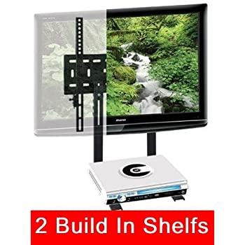 "Mount World 1024D LCD LED Plasma TV Wall Mount with build in 2 tier shelf of Cable Box DVD Player Stereo Components for Sharp AQUOS 32"" 37"" 40"" 42"" 46"" 52"" LED LCD LC32GP2U LC-32D44U LC-32LE700UN LC32AV22u LC32D53X LC-32DV22u LC-32D40U LC-32SB24U LC-32SB220U LC-32SB23U LC32D62U LC37SH20U LC37D53X LC37D63X LC37D40U LC-37DB5U lc-37d64u LC37D62U LC-40C37U LC-40LE700UN LC42PD7X LC-42d62U LC-42d72U LC-42D43U lc42D65U"