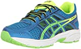 ASICS Unisex-Kids Gel-Contend 4 GS Running-Shoes, Directoire Blue/Green/Safety Yellow, 3 Medium US Big Kid