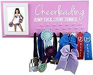 Running On The Wall Cheerleadin Medal Holder - Cheerleading - Jump.Tuck.Stunt.Tumble - Gift for Cheerleader -