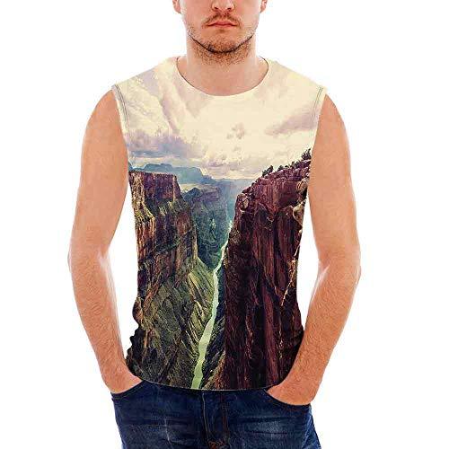 Leggings Denim Canyon (iPrint Mens Sport Sleeveless Undershirts House Decor Activewear Muscle Tank Top Exerc)