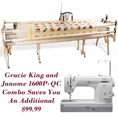 Janome 1600P-QC and Grace Gracie King Machine Quilter Combo by Janome MC1600P / Grace frame