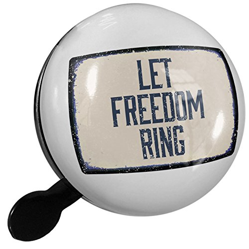 Small Bike Bell Let Freedom Ring Fourth of July Aging Vintage Blue - NEONBLOND by NEONBLOND