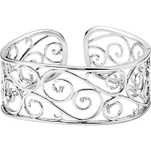 (Sterling Silver Diamond Bangle Bracelet 1/4ct)