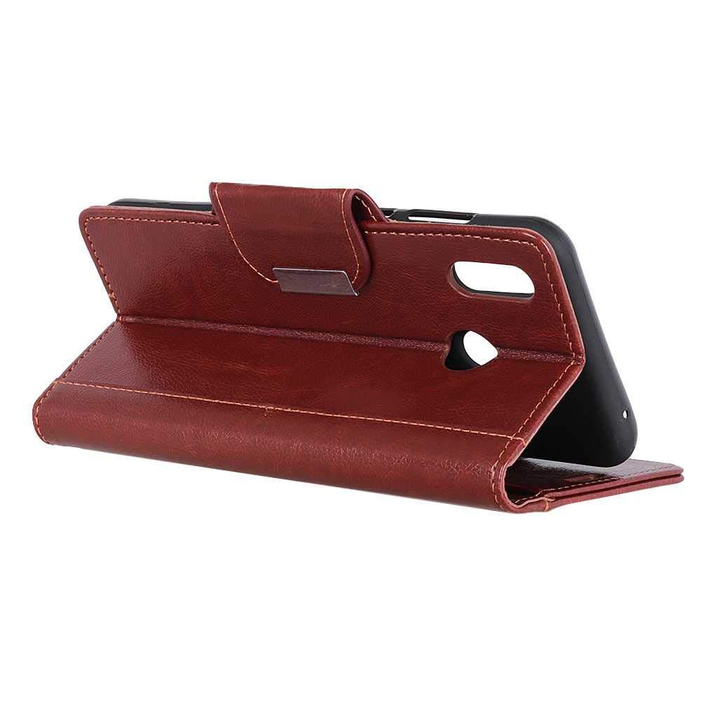 CAXPRO/® Leder H/ülle f/ür Huawei Y6 2019 Braun Kratzfestes Tasche Huawei Y6 2019 PU Leder Flip Handyh/ülle Schutzh/ülle mit Kartenfach und Standfunktion
