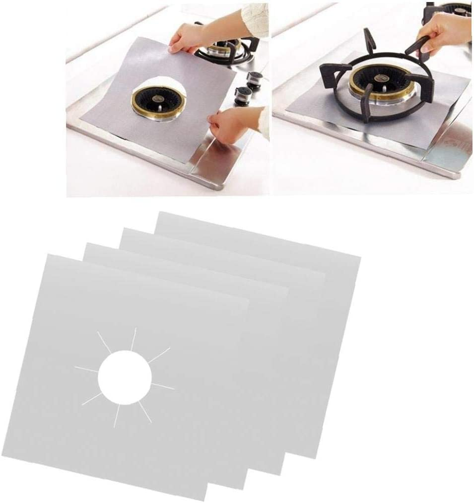 Lining Easy Clean Universal Heavy Duty Oven Liner 6PCS Reusable Gas Hob Protector Teflon Sheet Pack of 6 Non-Stick Foil Hob Stove-top Burner Covers