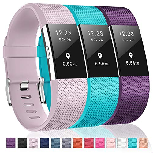 Humenn Bands Compatible with Fitbit Charge 2, 3 Pack Classic & Special Edition Replacement Bands for Fitbit Charge 2, Women Men 1