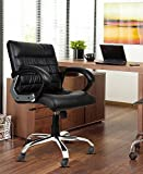 DZYN Furnitures Newton in Black Leatherette Office Conference Chair