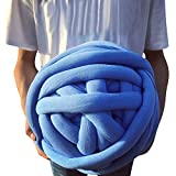 Wholesale Super Chunky Vegan Yarn, Acrylic Bulky Thick Roving Washable Softee Chunky Yarn for Arm Knitting DIY Handmade Blankets (Blue, 120m)
