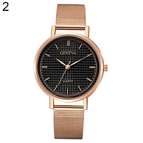 Ladies Mesh Stretch Watch - Lightclub Fashion Men Women Couple Simple Mesh Band Roman Numerals Quartz Wrist Watch - 2#