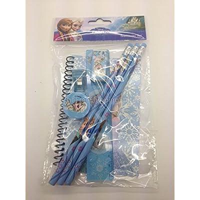 Disney Frozen Princess Anna Elsa & Olaf Stationary Set for Kids (Two Sets) Pink and Blue: Toys & Games