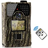 VENLIFE Trail Camera, 12MP Full HD 1080P 90° PIR Sensor Wildlife Hunting Camera 65ft Infrared Scouting Camera with Night Vision 48pcs IR LEDs, IP56 Waterproof 0.2s Trigger Time Game Camera