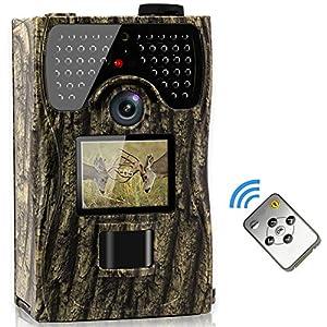 VENLIFE Trail Camera, 12MP Full HD 1080P 90° PIR Sensor Wildlife Hunting Camera 65ft Infrared Scouting Camera with Night Vision 48pcs IR LEDs, IP55 Waterproof 0.2s Trigger Time Game Camera