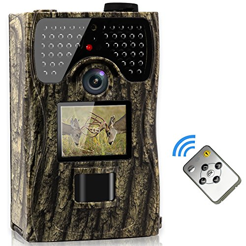 VENLIFE Trail Camera, 12MP Full HD 1080P 90° PIR Sensor Wildlife Hunting Camera 65ft Infrared Scouting Camera with Night Vision 48pcs IR LEDs, IP55 Waterproof 0.2s Trigger Time Game Camera by VENLIFE
