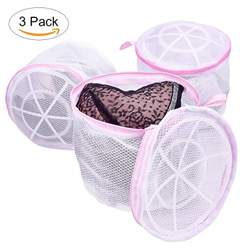 Scientific Bra Wash Bag for Bras, TANTAI Healthy Women Laundry Bag for Bras - Roof Bracket Structure Design - Working for Adult Stockings ,Knickers ,Other Underwear and Baby Underwear( 3 Pack ) Bra Washing Bag
