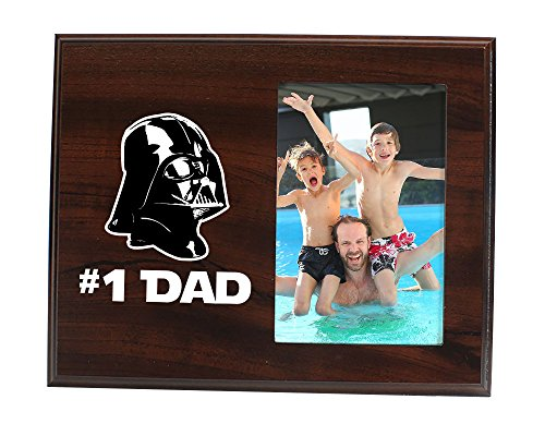 Elegant Signs Dad Gift from Son or Daughter - Number 1 Dad Picture Frame Funny