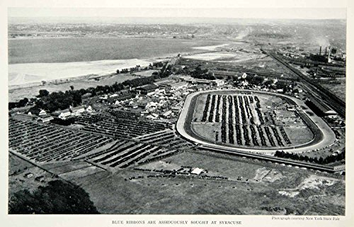1933 Print Syracuse New York Town City Fair Grounds Historical Aerial View NGMA3 - Original Halftone Print from PeriodPaper LLC-Collectible Original Print Archive