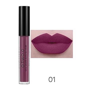 12 Colores Profesional Mate Pintalabios de Maquillaje Larga ...