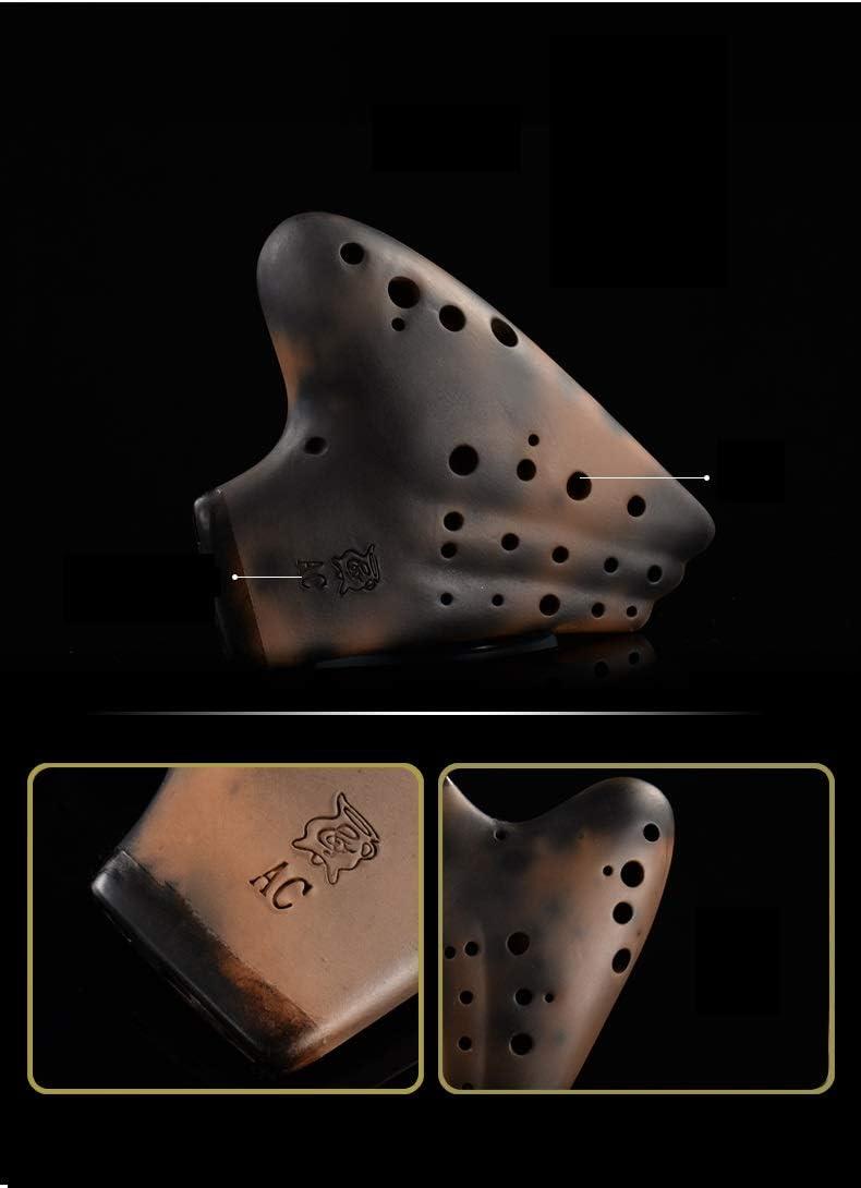 Jinnuotong オカリナ楽器3管acアルトcオカリナレトロ3管オカリナを演奏する 高品質 (Color : Brown)