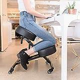 Sleekform Ergonomic Kneeling Chair - 4 inch Cushions with High Resilience Sponge