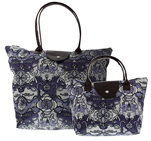 Folding Tote 2 piece Collapsible Travel