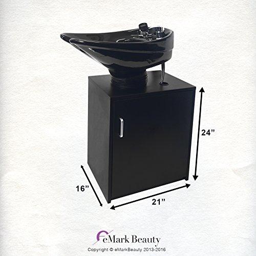 Ceramic Beauty Salon Backwash Shampoo Bowl Salon Sink With