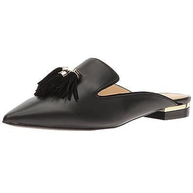 Mavirs Mule Slides, Womens Backless Slip on Loafers Tassels Pointed Toe  Slipper Shoes 4M US