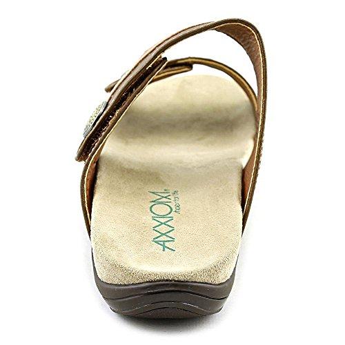Axxiom Salt Women US 8 Tan Slides Sandal 4p5xER5zFe