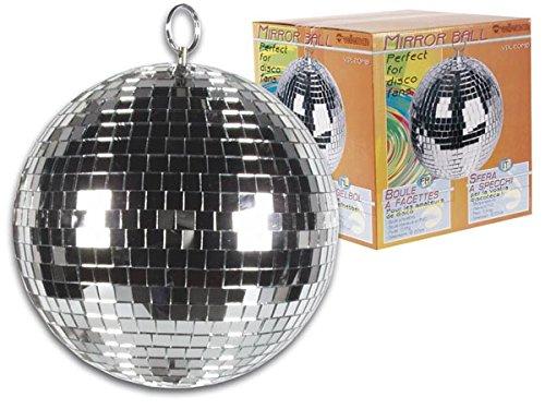 Espejo, Plata, 20 cm, 750 g HQ Power VDL20MB 200mm Espejo esfera giratorio discoteca Accesorio de discoteca