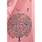SOURBH Women's Cotton Blend Saree With Blouse Piece