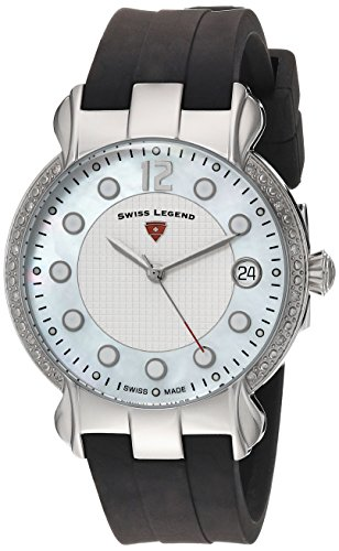 Swiss Legend Women's 'Layla' Quartz Stainless Steel and Silicone Casual Watch, Color:Black (Model: 16591SM-02)